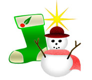 Christmas Snowman and Stocking