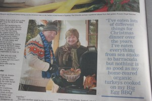 A photograph of Alfie and I in the Irish Examiner