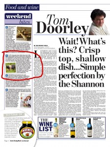 Tom Doorley, Irish Daily Mail