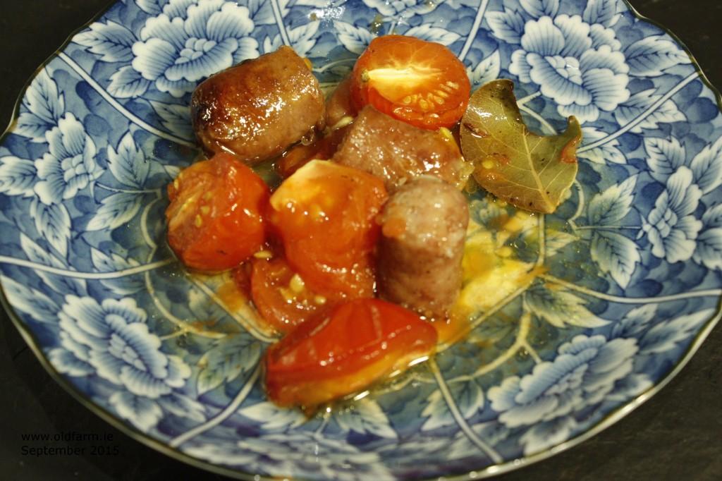 Sweet Tomato & Irish Sausage Bake